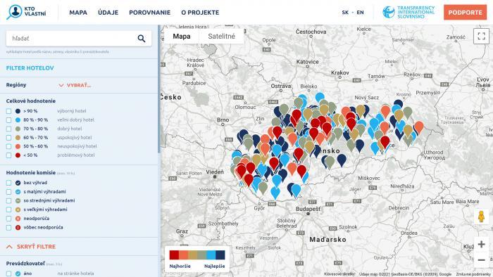 Prehľadná mapa umožňuje pohľad do zákulisia vlastníctva