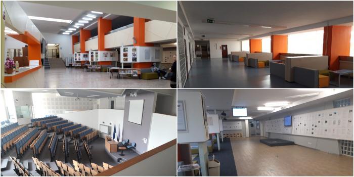 Priestory na Paneurópskej vysokej škole na Tematínskej 10 v Bratislave, Petržalke