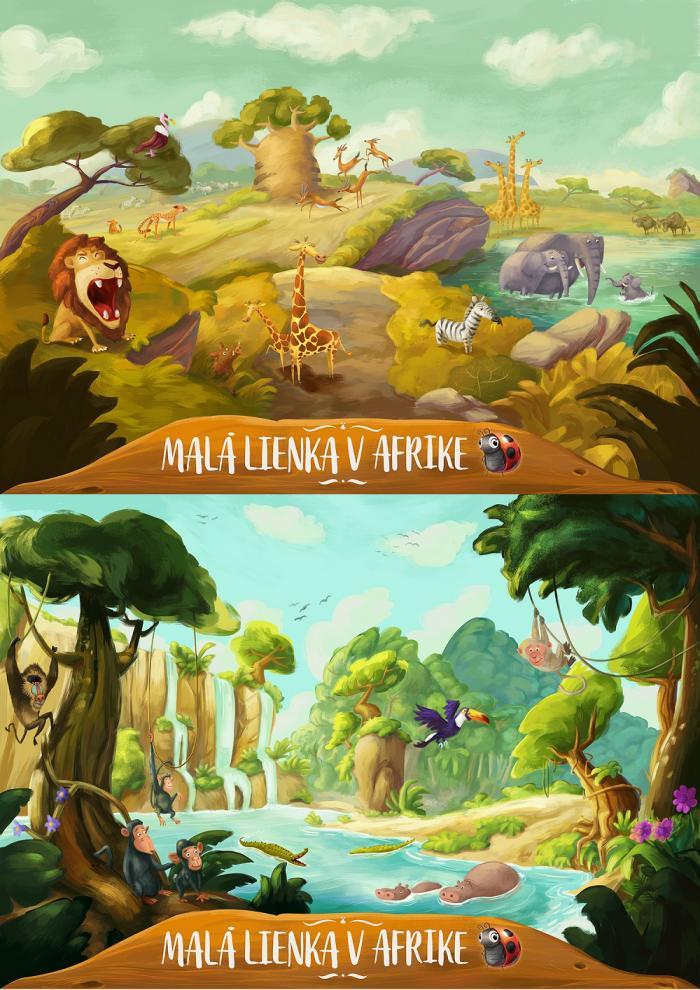 Plagáty savany a džungle, z ktorých si môžete vybrať v rámci Maxi Balíka