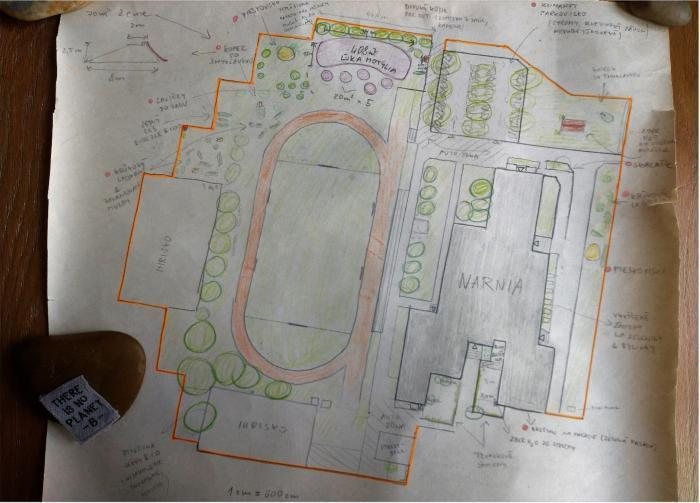 Plán pretvorenia areálu školy