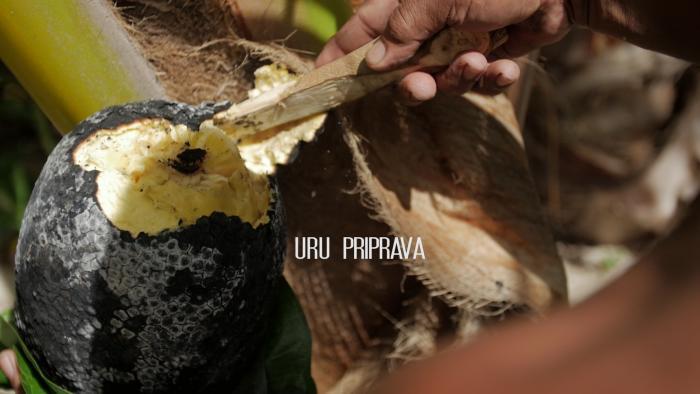 Príprava tradičného - lokálneho jedla - Uru /Chlebovník/
