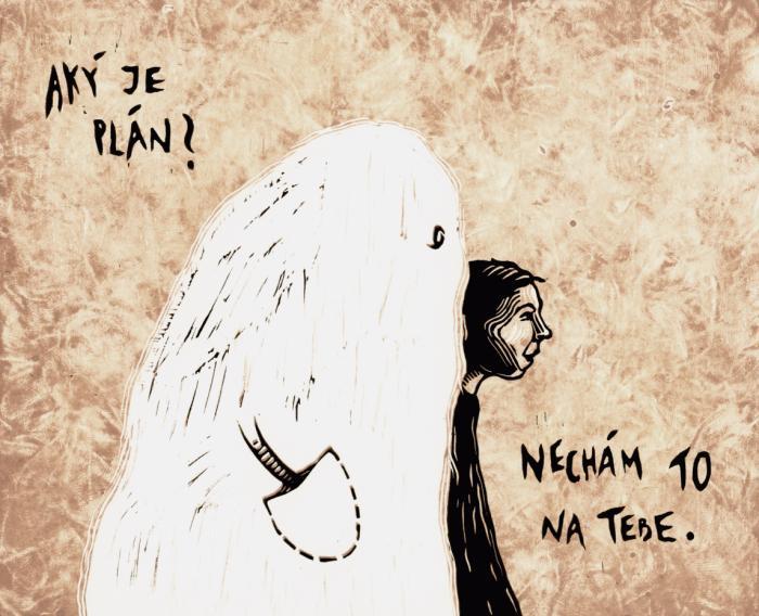 Výstižná kresba od Márie Sládečkovej (Saturejka) ktorá je súčasťou nášho tímu
