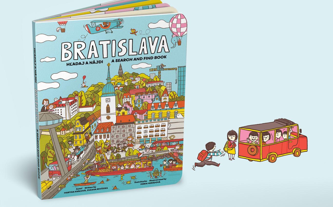 63af89ddb Ilustrovaná kniha BRATISLAVA - hľadaj a nájdi - Startlab